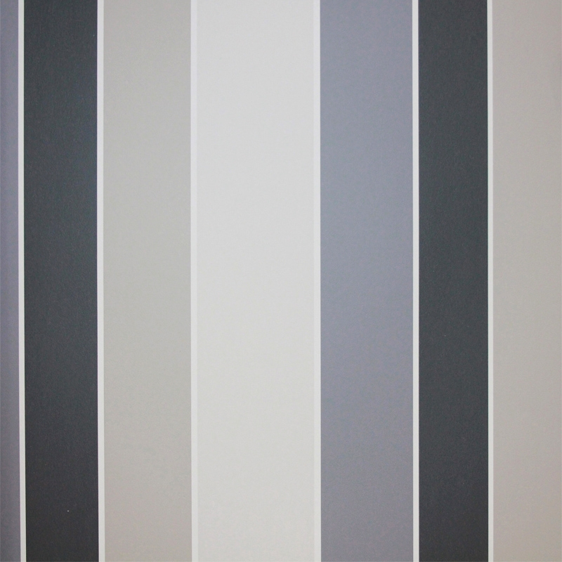 Carta da parati a righe tortora e grigio chiaro scuro for Carta da parati a strisce