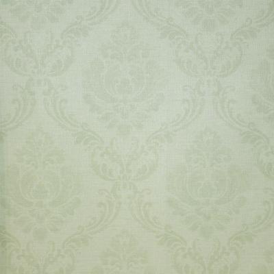 Carta da parati damasco colore verde chiaro.