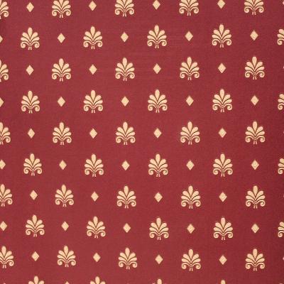 Carta da parati classica sfondo colore rosso scuro con decorazioni oro