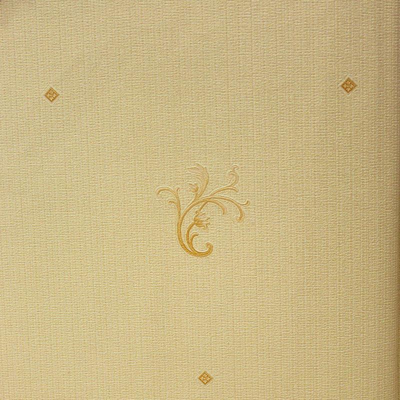 Carta da parati classica oro chiaro con decorazioni oro scuro for Carta da parati oro