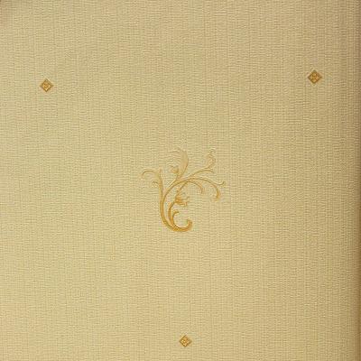 Carta da parati sfondo oro chiaro con decorazioni oro scuro.