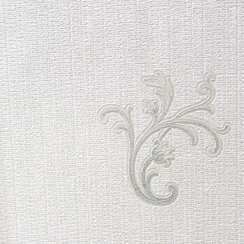 Carta da parati classica sfondo beige con decorazione verde for Carta parati verde
