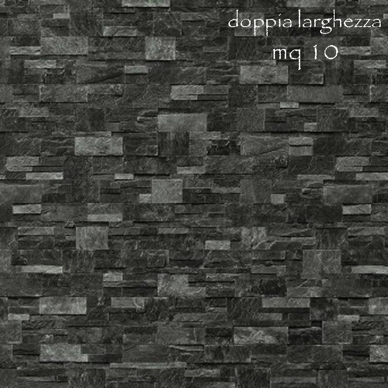 Carta da parati moderna pietra rustica colore grigio scuro for Carta parati tridimensionale