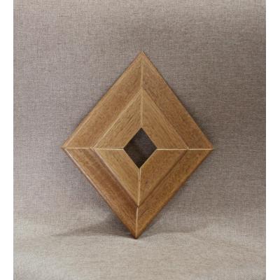 Rosone in legno rovere