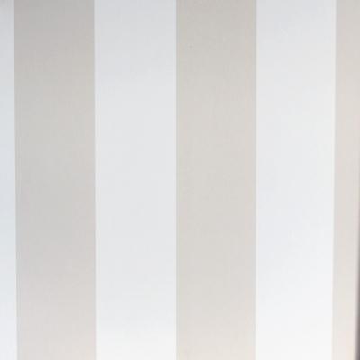 Carta da parati a righe bianco e nocciola