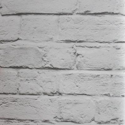 Carta da parati effetto mattone rustico colore grigio