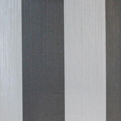 Carta da parati a righe grigio chiaro e grigio moka