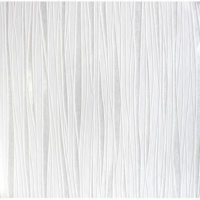 Carta da parati a righe sfumate bianco argento