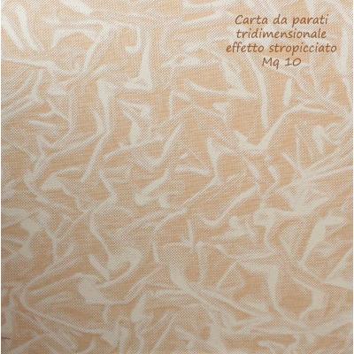 Carta da parati effetto stropicciato colore beige-salmone