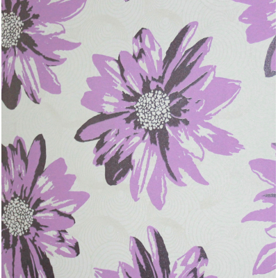 Carta da parati fiori moderni colore viola lilla