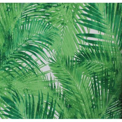 Carta da parati effetto foglie verdi