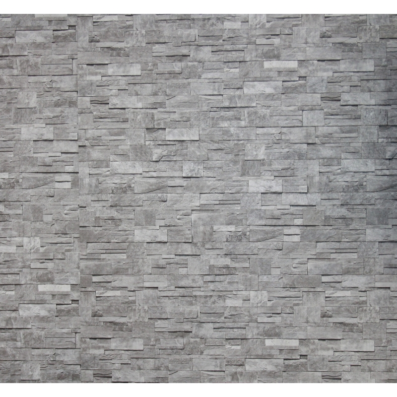 Carta da parati pietra colore grigio for Carta da parati damascata grigia