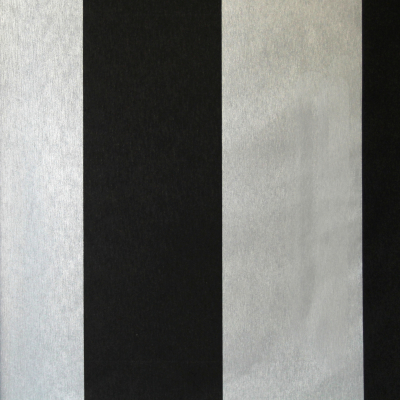 Carta da parati a righe nero e argento