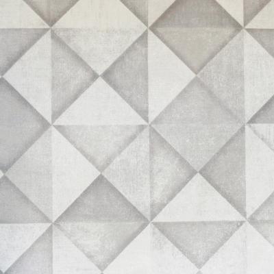 Carta da parati quadrati triangoli grigio e bianco