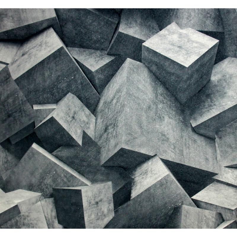 Carta da paratia cubi 3d tridimensionali grigio