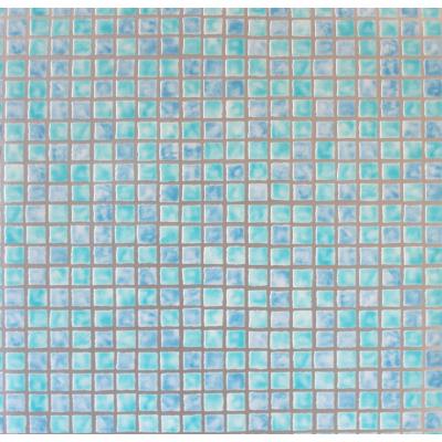Carta da parati a mosaico celeste azzurro verde acqua