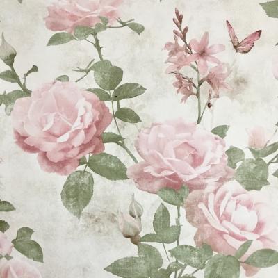 Carta da parati fiori rose rosa