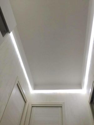 cartongesso con luci led